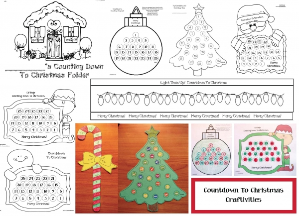 Countdown To Christmas Craftivities