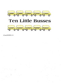 Booklet: 10 Little Buses