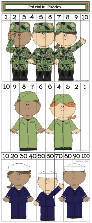 Veterans Day Number Puzzles
