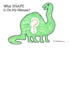 Booklet: What Shape Is On My Dinosaur?
