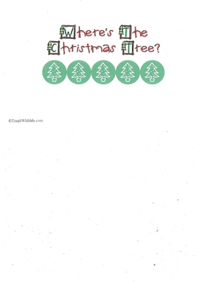 Booklet: Where's The Christmas Tree?