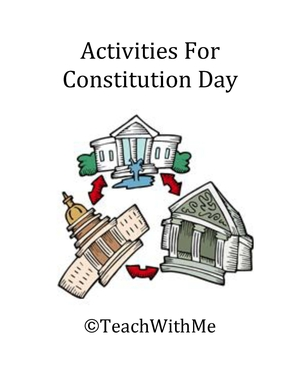 Activities For Constitution Day Packet