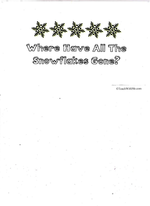 Booklet: Where Have All The Snowflakes Gone?