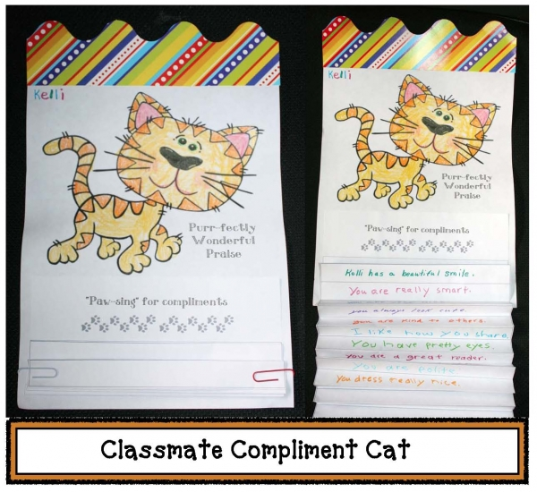 Compliment Cats Writing Prompt Craftivity