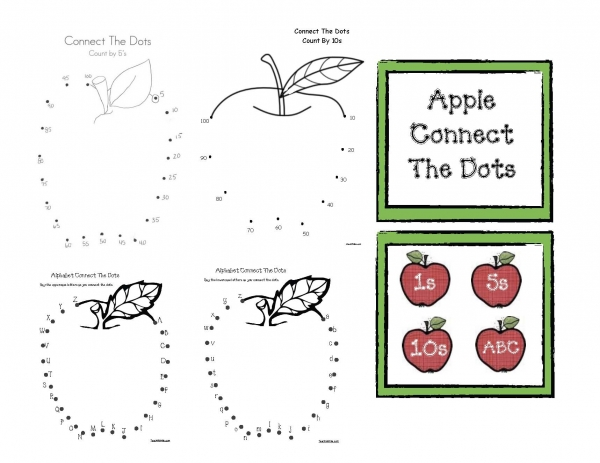 Apple Themed Connect The Dots