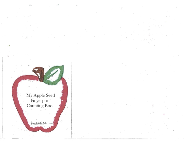 Booklet: My Apple Seed Fingerprint Counting Book