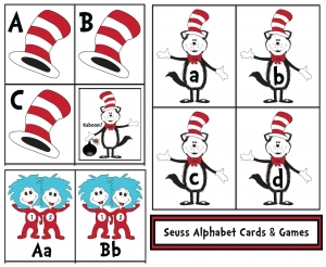 Dr. Seuss Alphabet Cards and Games
