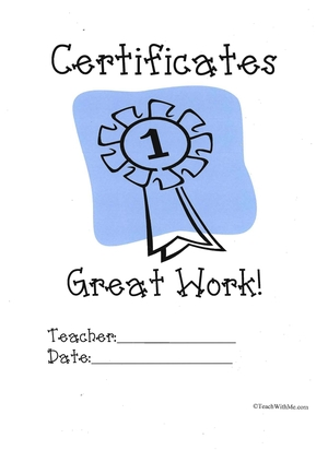 Monthly Praise Certificate book