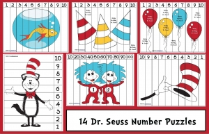 Dr. Seuss Number Puzzles