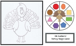 Turkey Shape Spinner Game