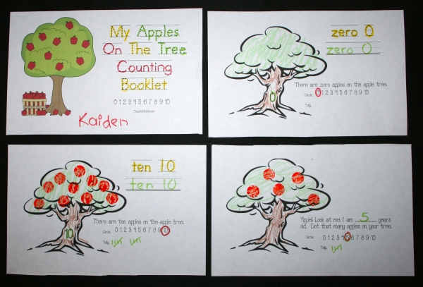 Apples On The Tree Counting Booklet