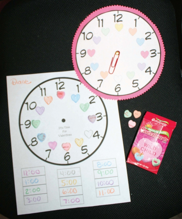 Candy Heart Clock Game