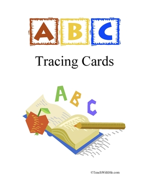 Free ABC Tracing Flashcards