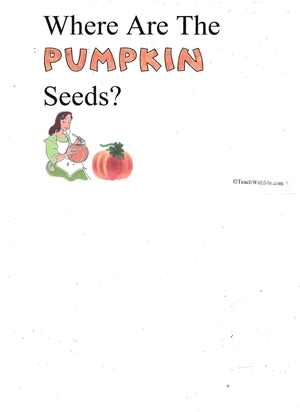 Booklet: Where Are The Pumpkin Seeds?
