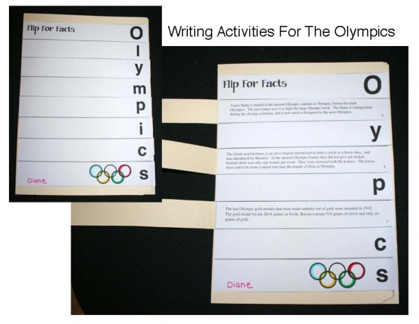 Olympic Writing Activities Packet