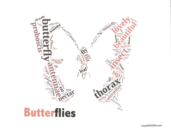 Butterfly Word Picture