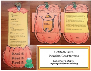 Common Core Pumpkin Craftivities For Reading