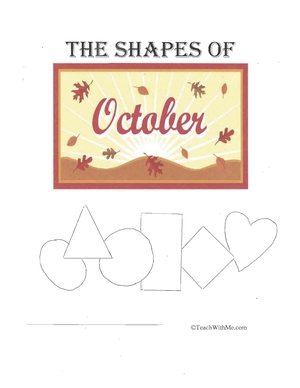 Easy Reader Booklet: The Shapes Of October