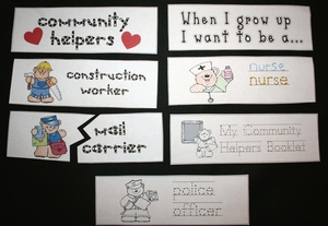 Community Helpers Card Packet