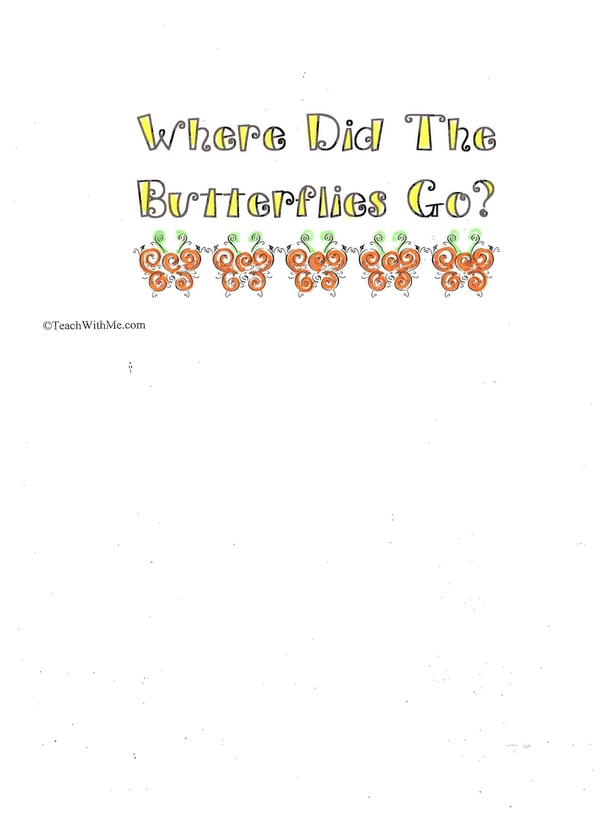 Booklet: Where Did The Butterflies Go?