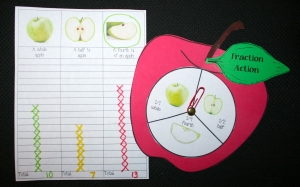 Apple Fraction Spinner Game