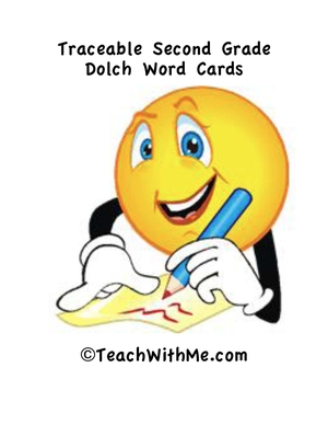 Traceable Second Grade Dolch Word Cards and Activities