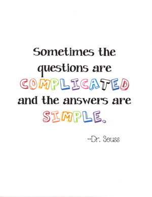 Dr. Seuss's Question-Answer Poster