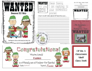 Elf Help Class Book Writing Prompt