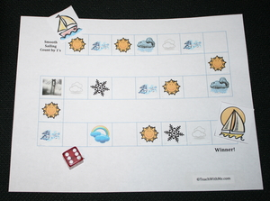 Smooth Sailing Skip Counting Weather Game