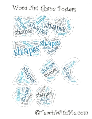 3D and Regular Shape Word Art Posters