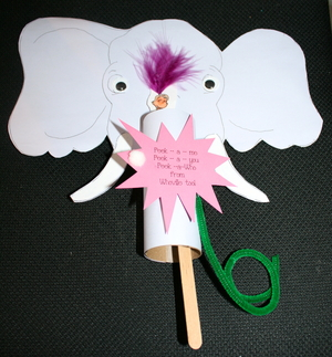 Horton Writing Prompt Puppet Packet