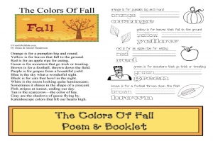 The Colors Of Fall Poem Booklet and Game