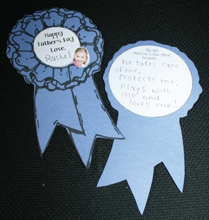 Father's Day Blue Ribbon Writing Prompt