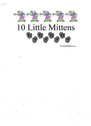 Booklet: 10 Little Mittens