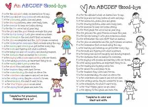 End Of The Year Alphabet Poem