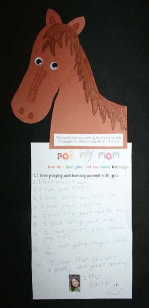 Mother's Day Horseshoe Writing Prompt