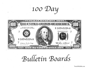 100 Day Bulletin Board Ideas