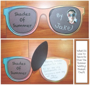 Shades Of Summer Writing Prompt Craftivity