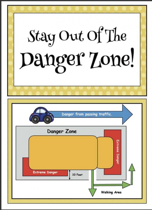 """Stay Out of the Danger Zone"" Bus Safety Posters"