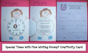 Special Times With Mom Writing Prompt Craftivity