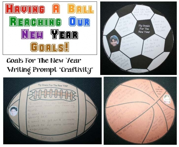 New Year Goals Writing Prompt Craftivities
