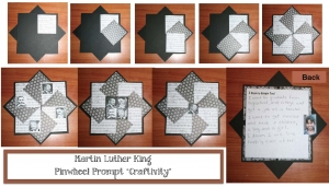 Martin Luther King Pinwheel Prompt Craftivity