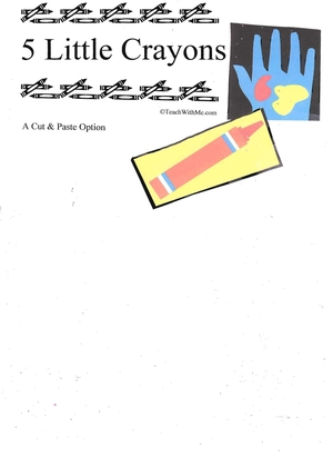 Booklet: 5 Little Crayons
