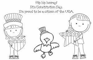 Coloring Page For Constitution Day