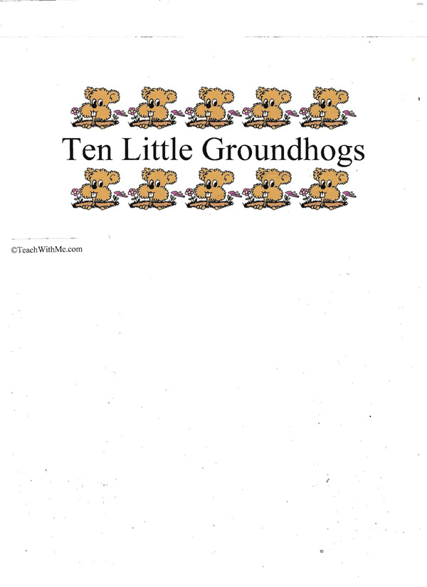 Booklet: 10 Little Groundhogs
