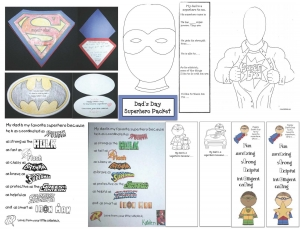 Father's Day Superhero Packet