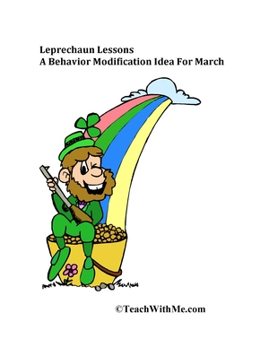 Leprechaun Lessons: Behavior Modification Idea For March