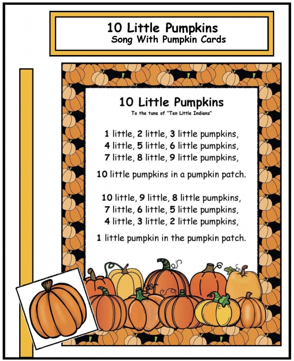 """Ten Little Pumpkins"" Song with Manipulatives"