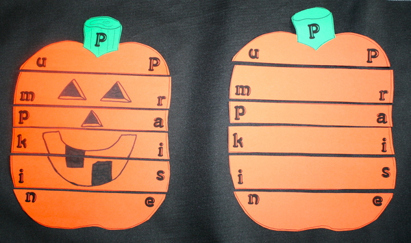 Behavior Modification Pumpkin Praise Puzzle