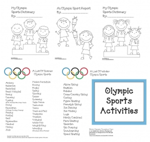 A List Of Olympic Sports Packet